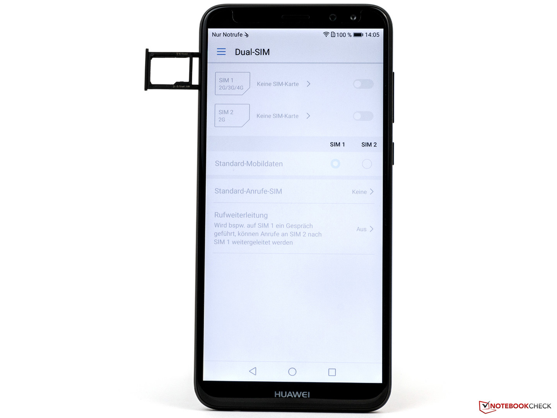 huawei mate 10 lite sim karte Huawei Mate 10 Lite Smartphone Review   NotebookCheck.Reviews