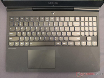 Similar keyboard to the Y530. Note the lack of dedicated mouse keys unlike on the Y530