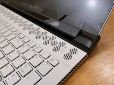 Alienware logo is the Power button. Unfortunately, it does not double as a fingerprint reader
