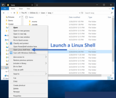 Coming Soon: Open a Linux terminal directly from File Explorer. (Source: Microsoft)