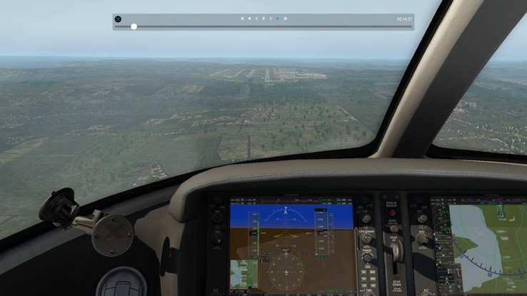 X-Plane 11.11 is playable.