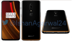 A purported render of the OnePlus 6T McLaren Edition looks fairly mild. (Source:@IshanAgarwal24)