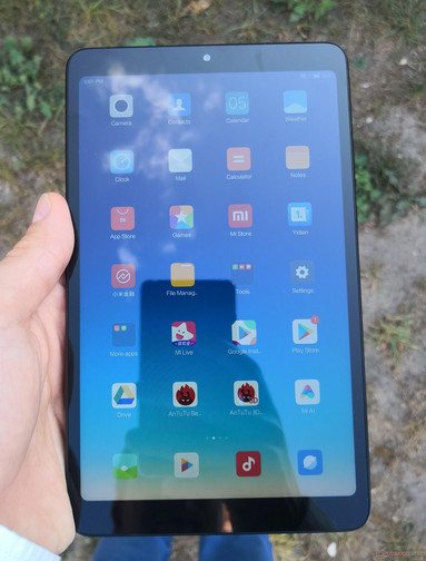 Using the Xiaomi Mi Pad 4 (LTE) outside in the shade