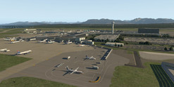 Default X-Plane 11 Vancouver airport. (Source: Laminar Research)
