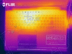 "Heat map of the top of the device (""Witcher 3"")"