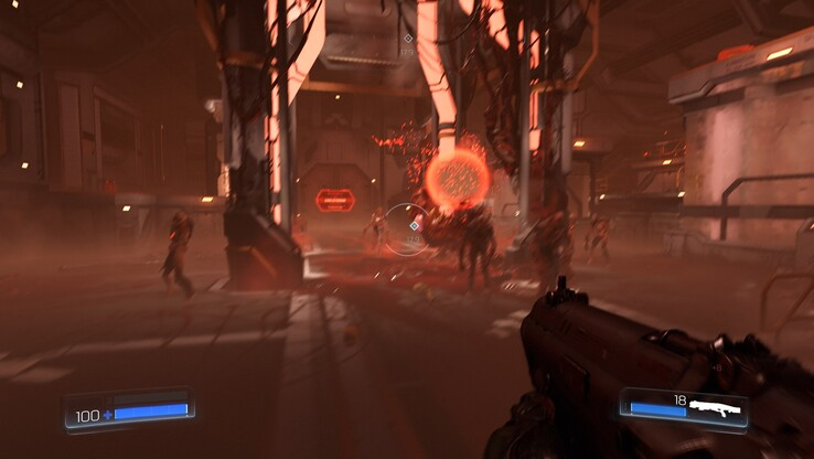 Doom with heavy motion blur because of the unstable frame rates