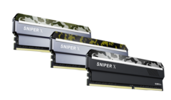 G.Skill Sniper X DDR4 RAM comes in three camouflage designs. (Source: G.Skill)