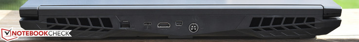 Rear: Gigabit Ethernet, USB 3.1 Gen 2 Type-C/Thunderbolt, HDMI 2.0, mini-DisplayPort, charging port