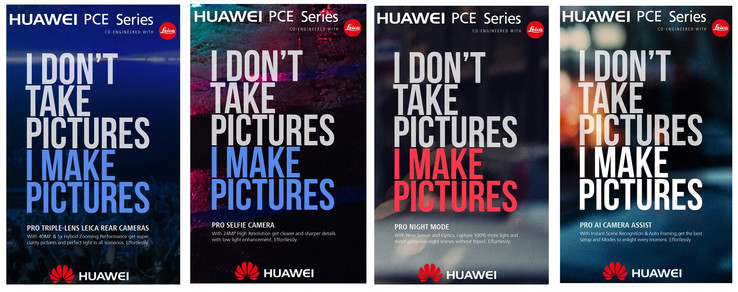 Leaked advertising material from the portfolio of a creative agency used by Huawei. (Source: Evan Blass)