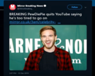 Fake news, but were you surprised? (Image source: PewDiePie via The Mirror)