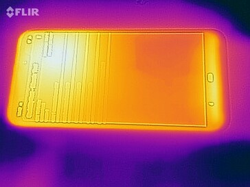Heatmap of the front of the device under load