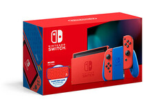 The Nintendo Switch Mario Red & Blue Edition console will go on sale on February 12. (Image source: Nintendo)
