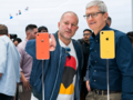 We probably won't be seeing photos of Cook and Ive together like this in future. (Source: Apple)