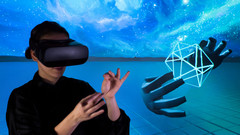 Leap Motion is developing a new input sensor that will track users hand motion in a VR experience. (Source: Leap Motion)