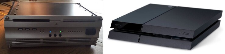 PS4 devkit and final product. (Image source: Fraghero/iFixit/edited)
