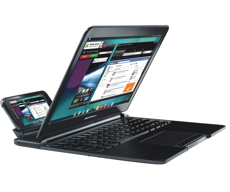 Motorola's Atrix-based Lapdock from 2011. (Source: Motorola)