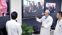 Doctors in China performed the world's first remote brain surgery using 5G technology. (Source: CGTN)