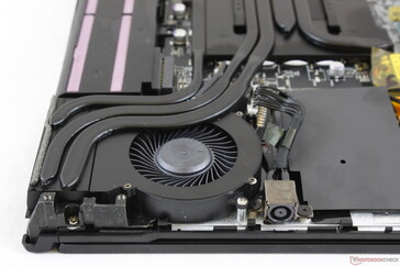 Cooling solution is similar to the GL63 but with thicker heat pipes