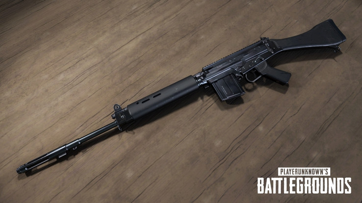 The latest weapon in PUBG's arsenal: The SLR. (Source: Bluehole)