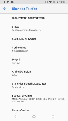 pure Android Oreo on the Nokia 8 Sirocco