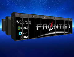 Frontier is expected to have peak performance close to 1.5 exaflops and network bandwidth in excess of 1 petabyte/s. (Source: Cray)