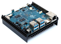 The Hardkernel ODROID-N2 integrates four ARM Cortex-A73 cores and two Cortex-A53 cores along with an ARM Mali-G52 GPU. (Image source: Hardkernel)
