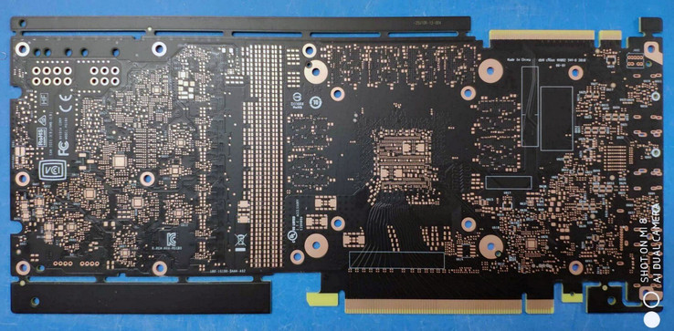 NVIDIA GTX 1180/2080 PCB - back. (Source: Baidu)