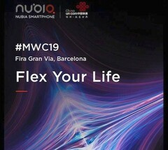 Nubia MWC 2019 teaser, flexible smartphone coming up (Source: Weibo)