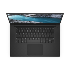 The XPS 15 7590's keyboard and palm rest remain standard affairs. (Souce: Dell)