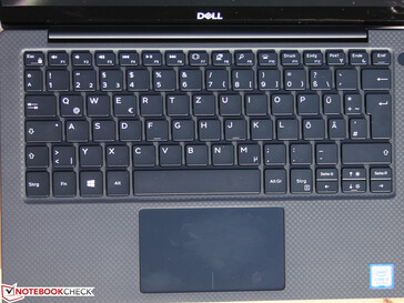 The familiar XPS 13 keyboard…