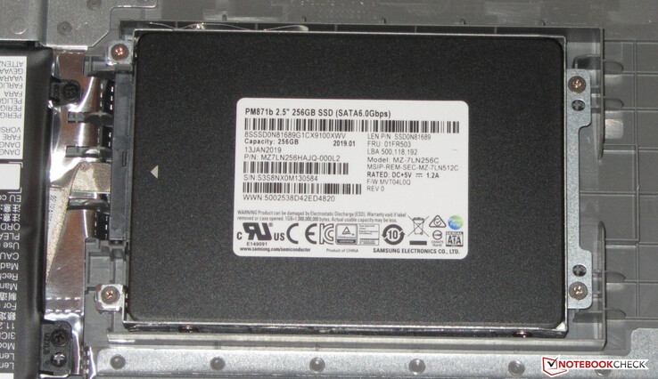 An SSD is used as system drive.