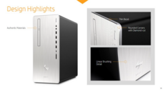 The HP Envy Tower's design is reminiscent of the HP Pavilion Gaming desktop. (Source: HP)
