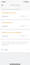 Elements App: Thermostats overview
