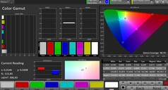CalMAN: sRGB colour space – Natural colour mode