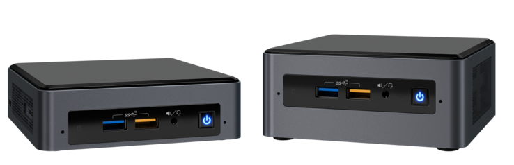 NUC8ixBEK (left) vs. NUC8ixBEH (right)