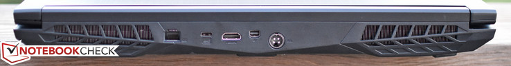 Rear: Gigabit Ethernet, USB 3.1 Type-C Gen 2, HDMI, mini-DisplayPort, Charging port