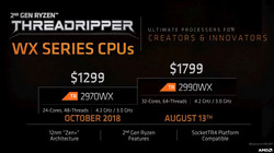 AMD Ryzen Threadripper 2970WX and 2990WX (Source: AMD)