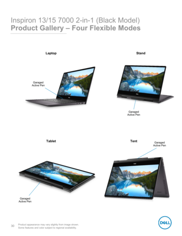 Inspiron 13 and 15 modes and Pen Garage