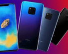 A render showing all the leaked color options for the Mate 20 Pro. (Source: gizmochina.com)