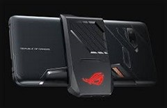 The ROG phone has multiple USB ports to support accessories like this one. (Source: Android Authority)