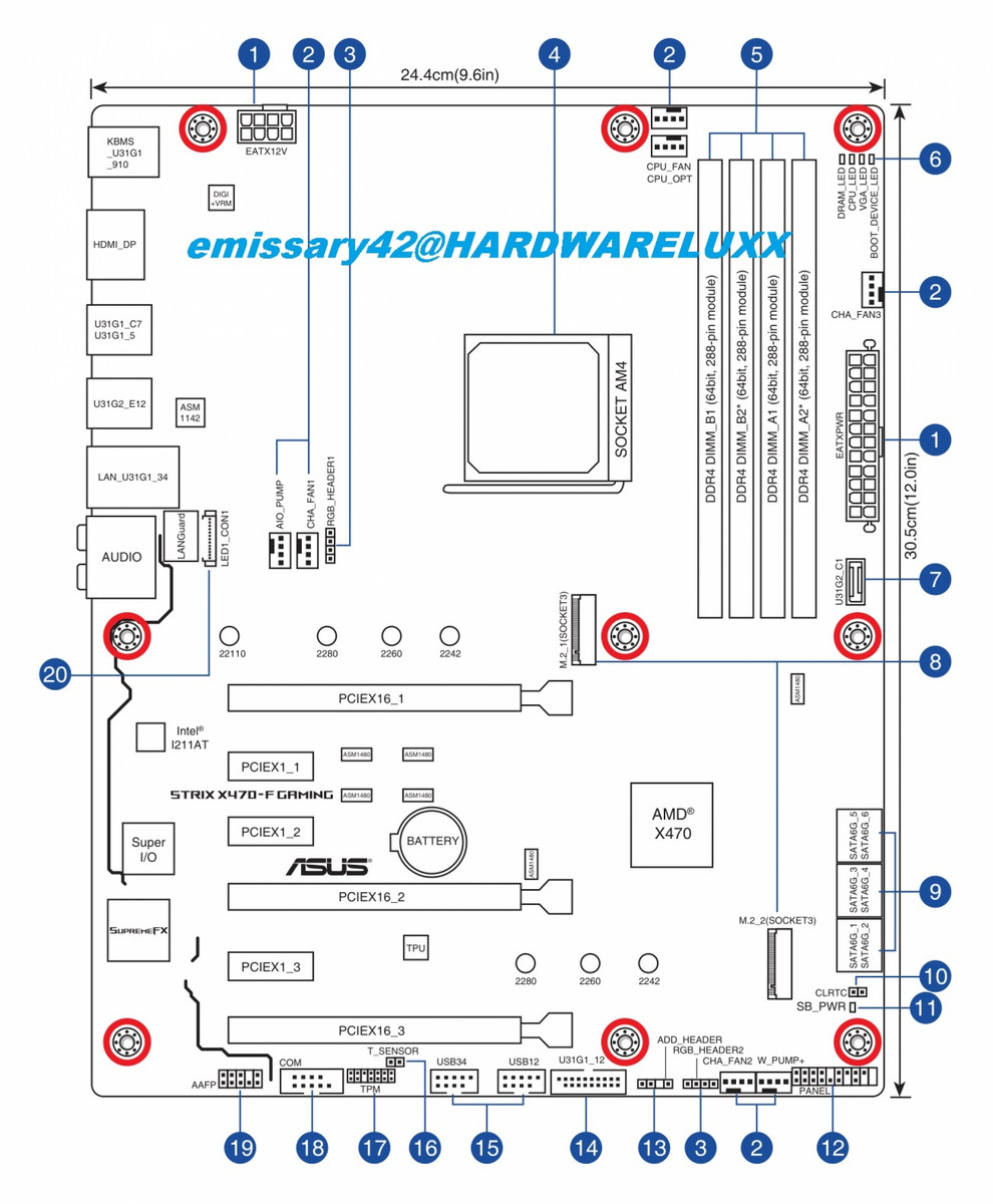 First Pictures And Layout Schematics Of The Asus X470 F Rog Strix Displayport Schematic Board Source Hardwareluxx