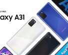 The Galaxy A31 is finally official. (Source: Samsung)