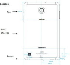 Samsung Galaxy Tab A 8.0 (2018) at FCC (Source: MySmartPrice News)