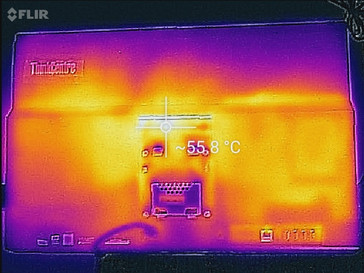 Thermal profile, rear of unit