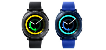 The Gear Sport comes in black and blue colors. (Source: Samsung)
