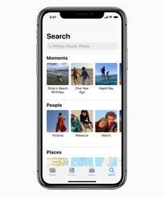 Photos has new search functionality.