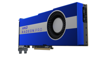 The Radeon Pro VII has one 8-pin and one 6-pin connector. (Image Source: AMD)