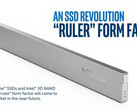 "Intel's ""ruler"" form factor is specifically designed for data centers. (Source: Intel)"