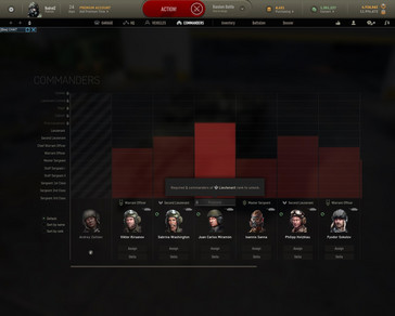 Armored Warfare - commanders screen (Source: Own)