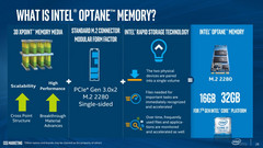 Intel's Optane Memory is coming to consumer markets in bite-size capacities. (Photo source: Intel)